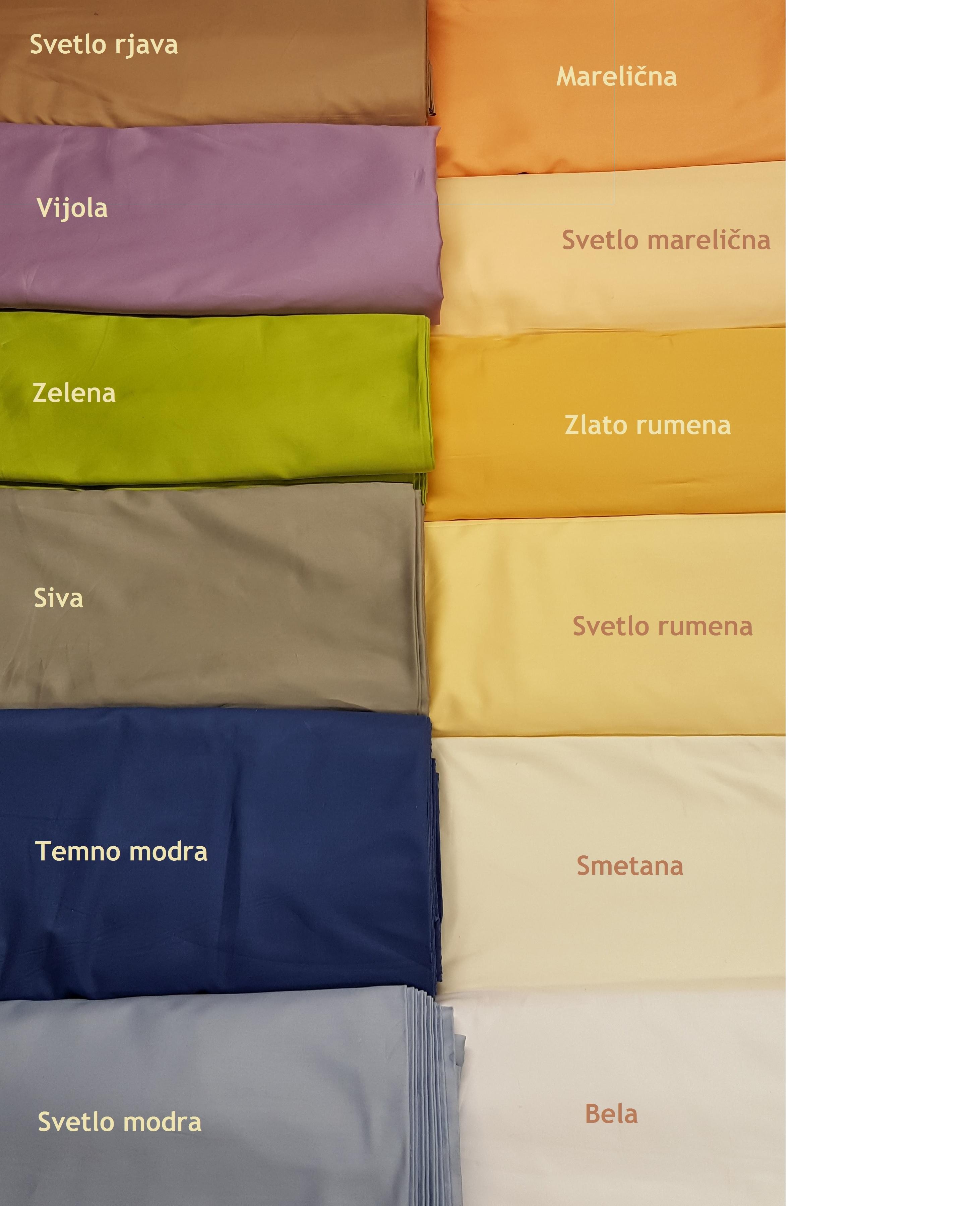 Barvna paleta blaga - 100% brušen bombaž - SATEN